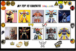 Top 10 Megazords And Mecha by V1EWT1FUL
