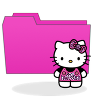 Hello Kitty Pink Folder by PinkLovin