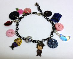 Kawaii Doctor Who 10 and Rose Charm Bracelet by Lovelyruthie
