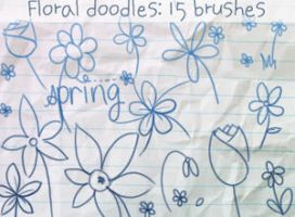 Floral Doodles Brushes by ibeliever