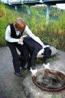 Cosplay Izaya and Shizuo by Darkwinged-Sasuke