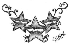 Star Lower Back Design by ShaesTattooedHeart