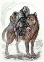 Haken the Warg Rider by Merlkir