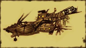 Piracy ship by bordon