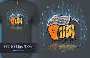 Fish N' Chips N' Rain by InfinityWave