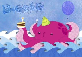 B-octo birthday card by Marki-san-Design