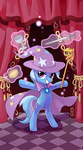 My little pony tarot card 1. Magician Trixie by kairean