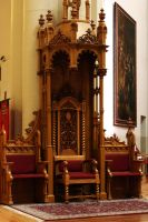 Wooden Throne by NHuval-stock