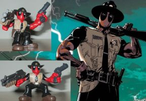 Sheriff Deadpool Custom Super Hero Squad by Deadpoolandfriends