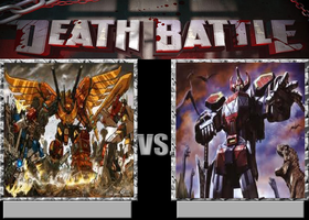 Deathbattle67: Predaking vs the Megazord by Mr-Wolfman-Thomas