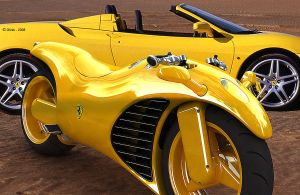 Ferrari V4 Superbike Yellow by TheCarloos