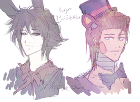 Doodles 2 : Shadow Bonnie And Toy Freddy by Ailurophile-Chan