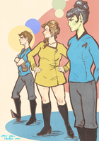 Triumvirate Lady Trek by janey-jane