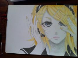 Rin Kagamine by Caththecat29