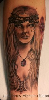 Victorian pin up by Mythos-Tattoo