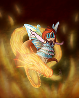 The flaming dragon by SailorRaybloomDZ