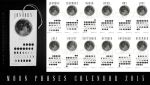 Moon Phases Calendar 2015 by Euflonica