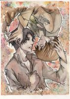 Ereri watercolor by arekupacific
