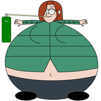 Gravity Falls: Wendy inflated by dev-catscratch