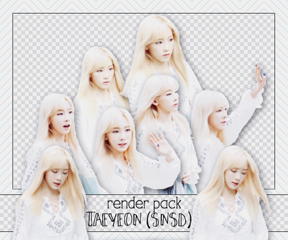 PACK PNG TAEYEON @150828 MUSIC BANK by victorhwang