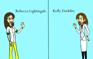 Rebecca Lightingale and Kelly Darkfire by LaughterLover