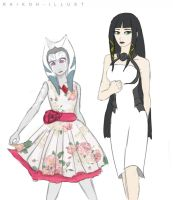 OCs in fancy clothes by Raikoh-illust