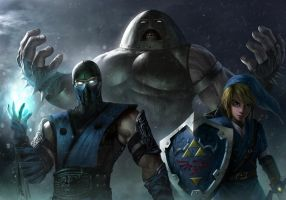 Unlikely Trio (Subzero + Link + Juggernaut) by BillCreative