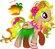 Tropical Pony Adoptable CLOSED by YukiAdoptablesPonies