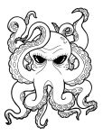 octopus outline by b0dys0ng