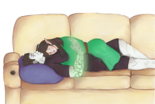 Androxus x Ying: A little rest by SapphireAngelBunny