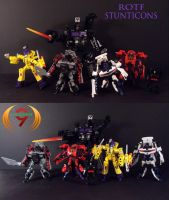 Custom ROTF Stunticons Bots by Unicron9