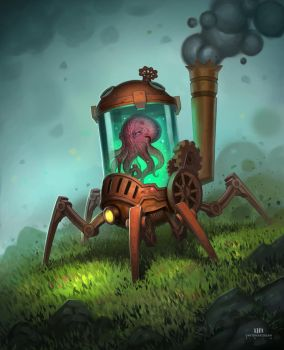 Steampunk Land Crawler by DavidHakobian