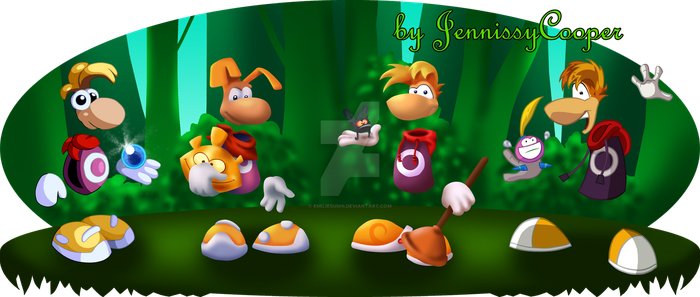 The Evolution of Rayman by JennissyCooper