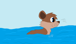 Swimming otter by Niaarts459