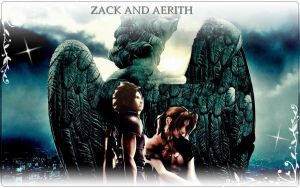 zack and aerith angel by finaldreams7