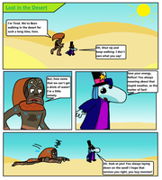 Lost in the Desert Rayman Short Comic #03 Page 1 by Mighty355
