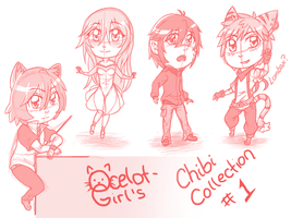 PSE Chibi sketches 1 by ocelot-girl