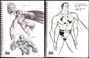 Then and Now Superman by wannabegeorge