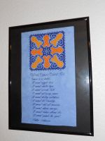 Cancer Mandala Framed by Joce-in-Stitches