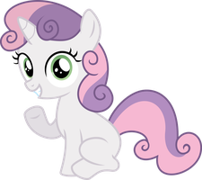 Sweetie belle says Hi by Baka-Neku