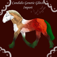 Candidis Genetic Glitch Import #1 (FOR SALE!) by emmy1320