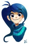 blue hair by Timidemerald