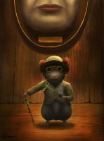 Steampunk british blind mouse by Meteorskies