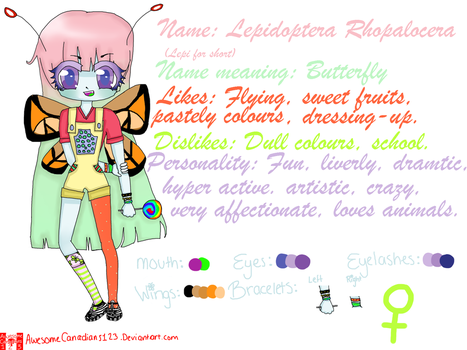 My new girl, Lepidoptera! by AwesomeCanadians123