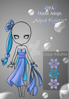 (closed) Offer to adopt - Aqua fighter by CherrysDesigns