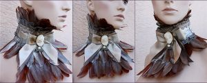 Feather jabot by Pinkabsinthe