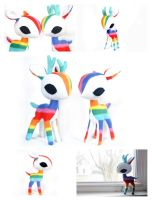 Rainbow Deer Plush by pookat