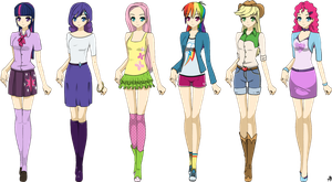 Anime Equestria Girls by Bananers97