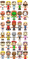 Street Fighter IV Sackboys by ChrisFClarke