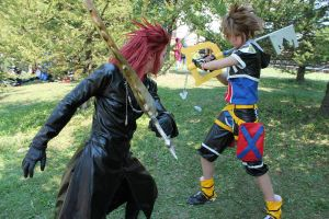 Sora vs Axel by rainyrainbows